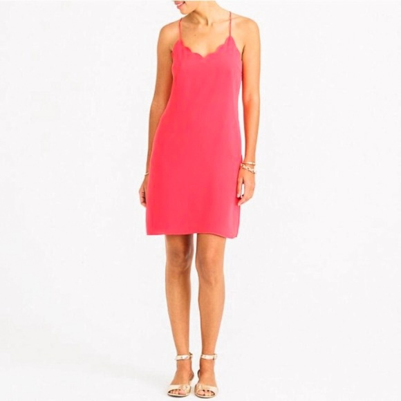 J. Crew Factory Dresses & Skirts - J. CREW Factory Scalloped Tank Dress Size 18 Pink